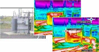удаленное тепловизионное обследование силового трансформатора